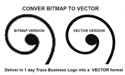 Deliver in 1 day trace business logo into a  VECTOR format
