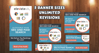 Design Google Adwords banners ad set with unlimited revision