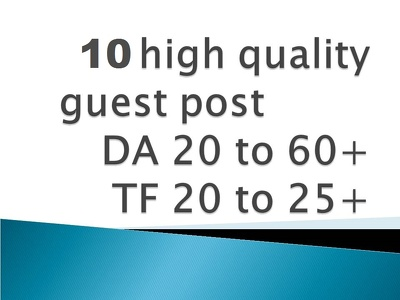 Post 10 guest posts on DA 40-50 Blogs