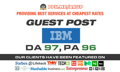 Publish Guest post on IBM| IBM.COM with 2 do follow links