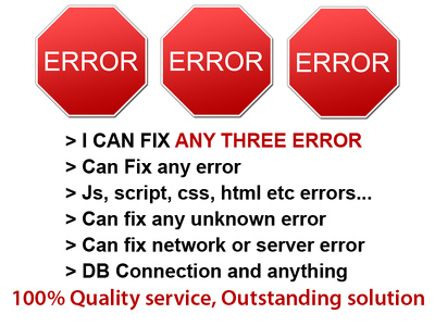 Fix any error in Wordpress/Magento/Joomla/Drupal/PHP/Mysql/CSS/HTML/JS/CMS and etc