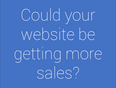 Audit your website to tell you how to make more sales/leads/downloads
