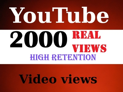 I will Generate 100% Genuine 2,000 real YouTube views