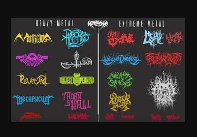 I Will Design DJ, Rock,Black Or Death Metal,Typography Band Logo