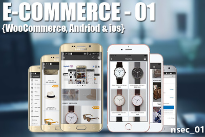 Develop eCommerce app for Android,iOS and Woocommerce in backend