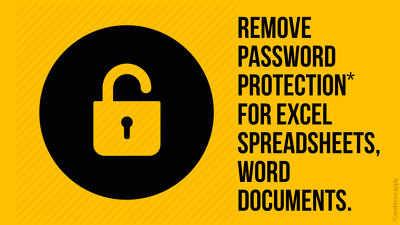Unlock & crack-open password protection of your Excel Spreadsheet, Word Document
