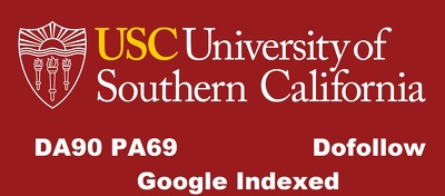 Publish edu guest post on DA 91 TF 76 website usc.edu