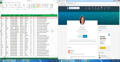 Research linkedin profile and collect verified email