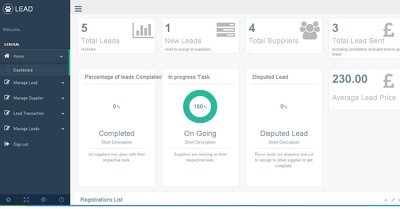 Provide a lead generation cms