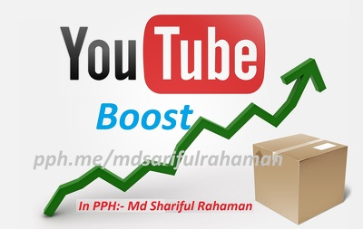 YouTube Boost - 500 subscribers, 3000 views, 2000 likes & 100 comments