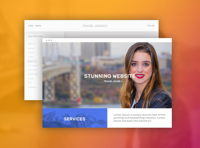 5 page static website design and html