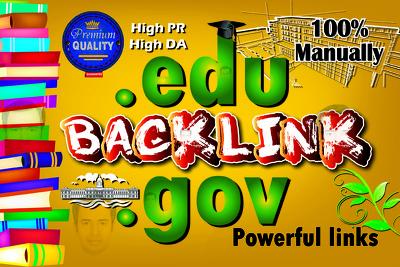 Create 21 High DA Edu And Gov Backlinks For You 100% Manually