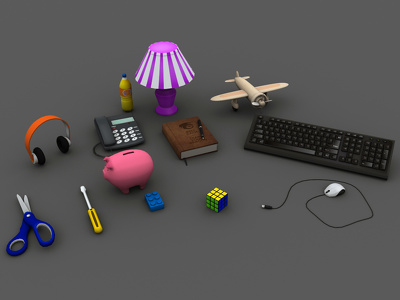 Do any kind of low poly objects for game.