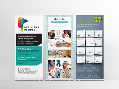 Design a ROLLER BANNER / pop up stand