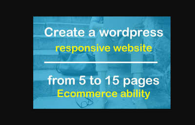 Design & develop fully responsive, fast loading & SEO friendly Wordpress website