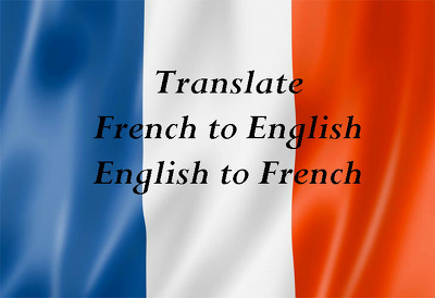 Translate 250 words from/to English and french