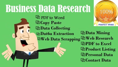 Do your Business Data Research Project