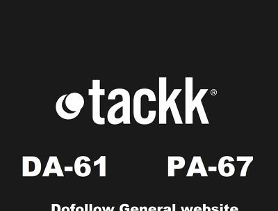 Publish a guest post on tackk, tackk.com, DA 65