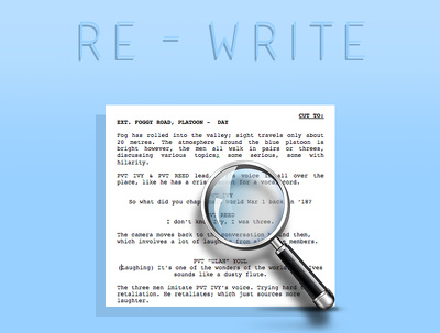 Professionally re-write your short screenplay