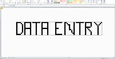 Enter 100 pieces of data into excel