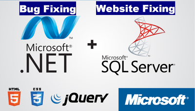 Fix Errors in Asp.Net/C#, MVC5 Website Related to Code, DB , CSS , Jquery Or Anything