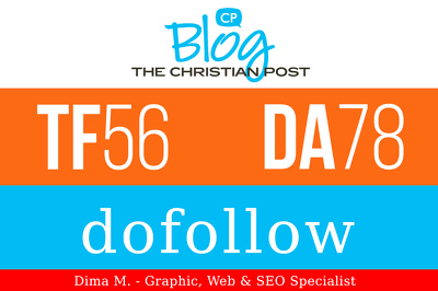 Publish a guest post on Blogs.ChristianPost.com, DA78, TF56
