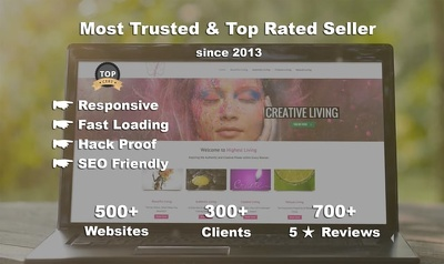 5 page responsive website design & development in Wordpress/CMS *TOP Selling Hourlie*