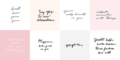 Create 10 handwritten Quotes for your Instagram account