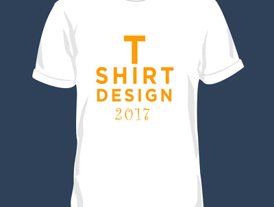 Design t-shirt any for company and golden service.