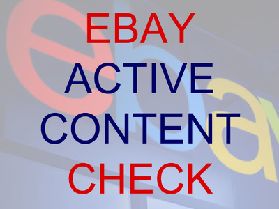 Check your eBay store for active content and suggest the best way to remove it.