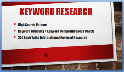 Find Low competitive high volume keyword and keyword Research for niche or blog.