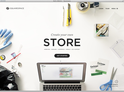 Create a complete Squarespace website