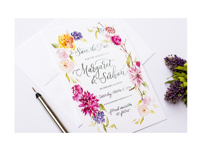 Design a custom calligraphy invitation