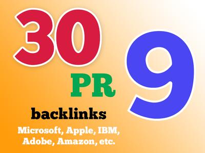 Boost Google Rankings with 30 PR9 High Pr Seo Social Backlinks