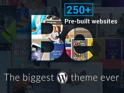 Develop your website using Betheme 250+ designs