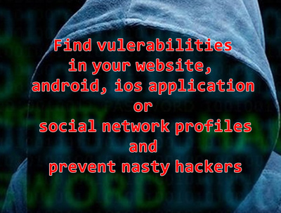 Help you to find security issues in your business website,  app, social media profile