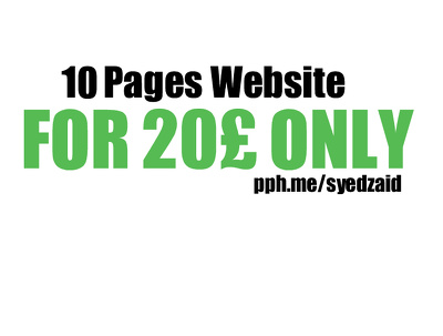Get Your 10 Pages Website Up and Running Cheap and Lowest On PPH