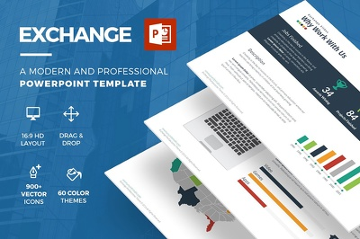 Deliver Exchange Powerpoint Template