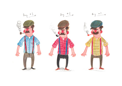 Design 2D characters for children's books