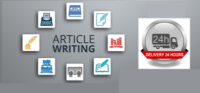 Write An Article Within 24 hours or Less