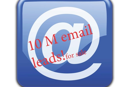 Provide you with around 10 million up to date email leads