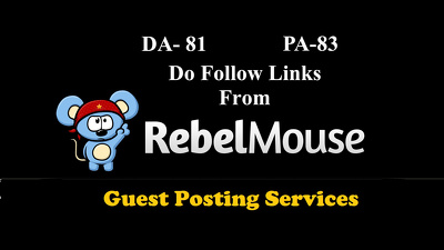 Publish guest post on RebelMouse DA 81 with Do Follow links