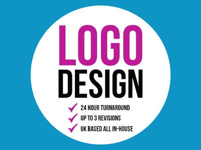 Professional Logo Design + 24 Hour Turnaround + UK Based