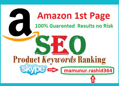 Rank your amazon keyword on 1st page with seo service