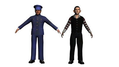 Make any 3d model with texture and rig and animation