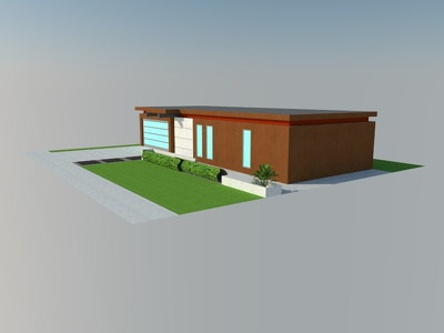 1(one) 3D modeling house (2 floors) & delivery on 5 (five) days
