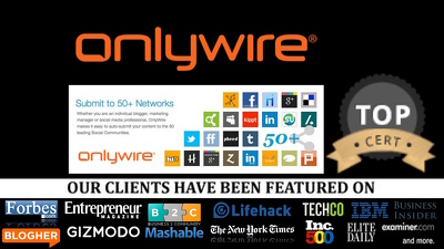 Custom Account Creation Syndwire Onlywire Social Link Machine