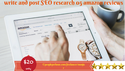 Write and post SEO research 05 amazon reviews for product or book