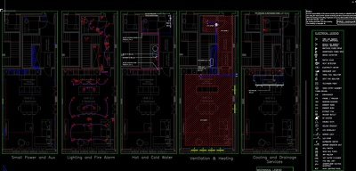 Draft autocad M&E drawings
