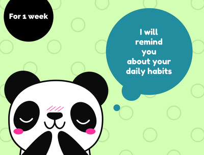 Provide 7 reminders about doing your habits and keep track of them